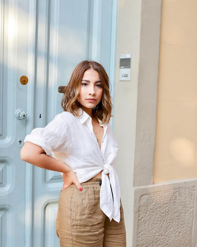 Cannot think about a better summer outfit than linen + linen 😻 #sorasandoval #summeroutfit
