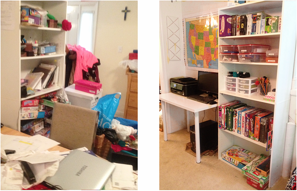 kids school home work room organization
