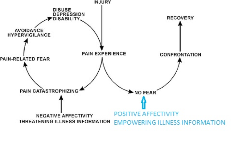 Original image: Vlaeyen J. Linton SJ. Fear-avoidance model of chronic musculoskeletal pain: 12 year on. 2012