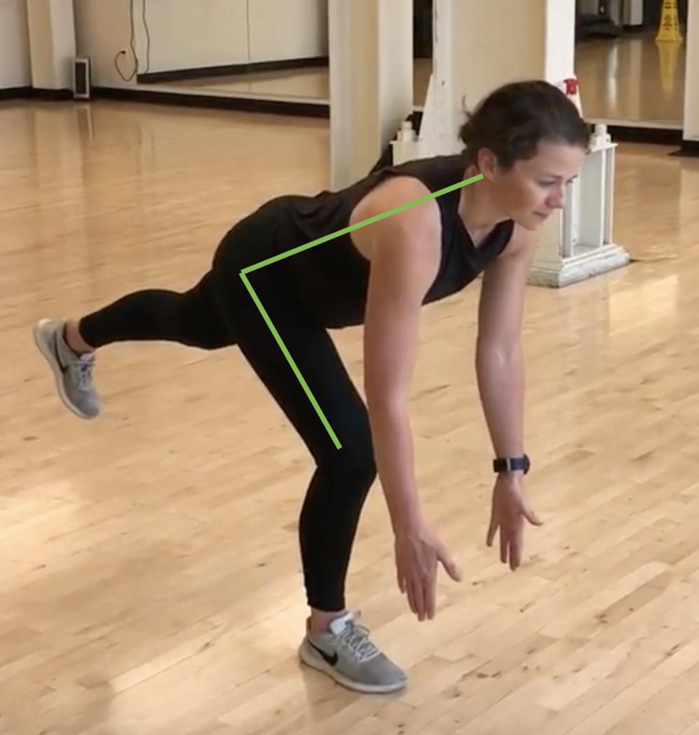 Single leg deadlift with hip hinge