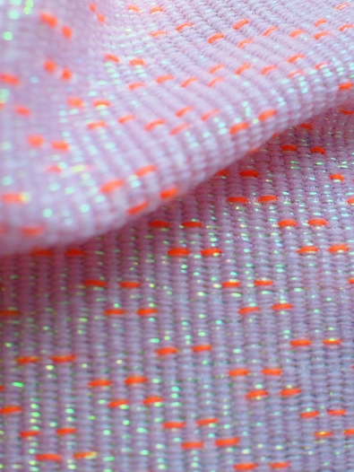 Hand woven and knitted textiles Sample collection inspired by Tokyo