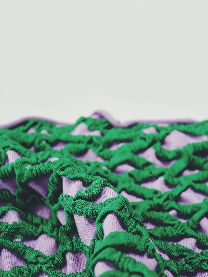 Hand woven and knitted textilesSample collection inspired by Tokyo