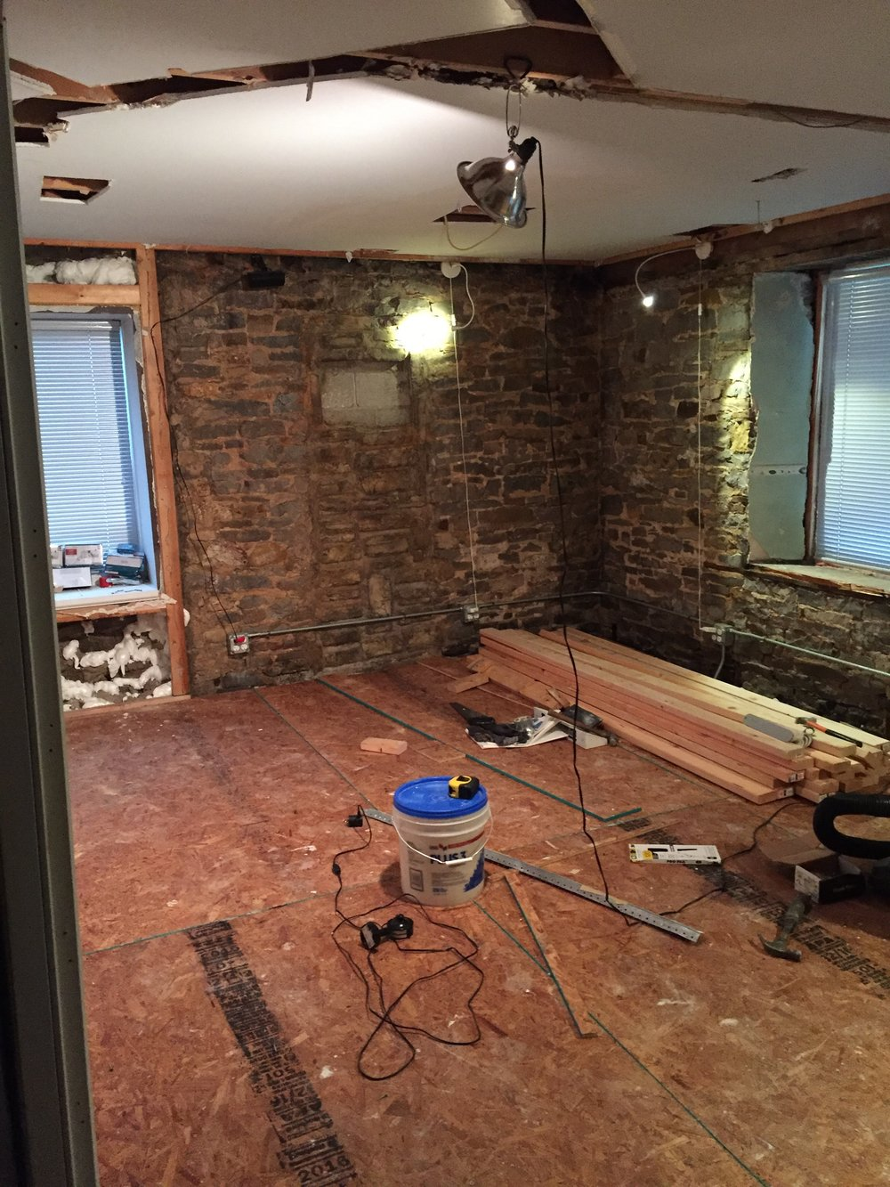 subfloor at stone house recording studio grand rapids michigan
