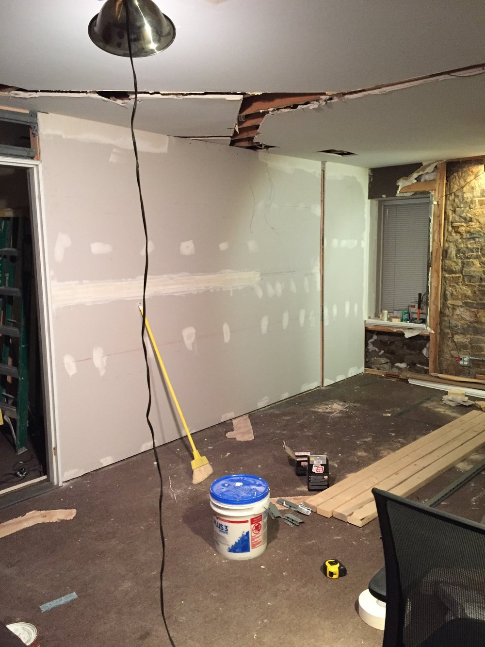 Drywall at stone house recording studio grand rapids michigan