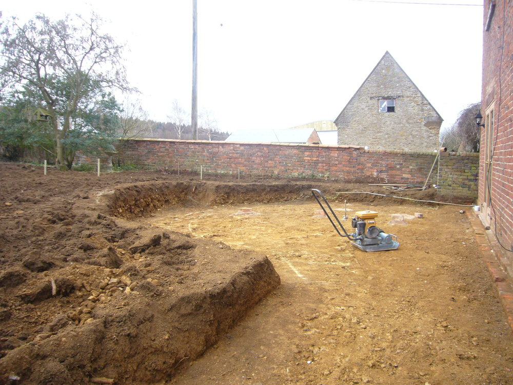Construction of terrace.JPG