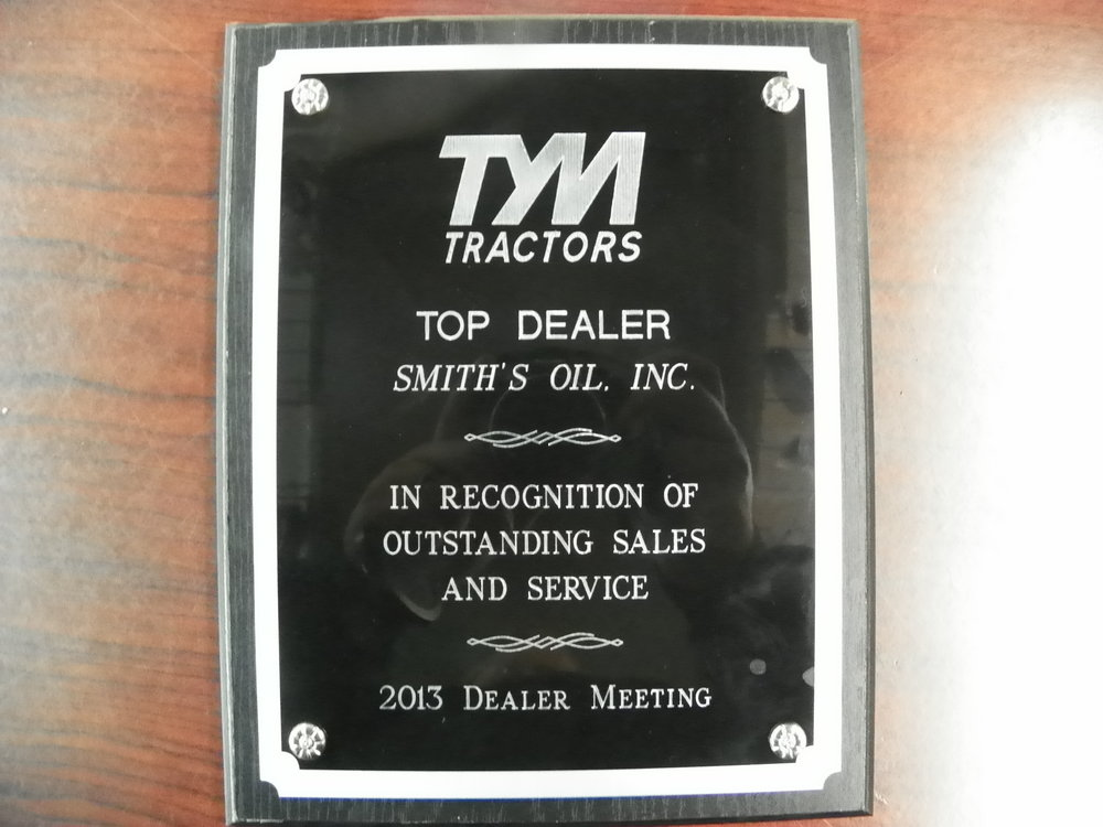 TYM 2013 Top Dealer Award