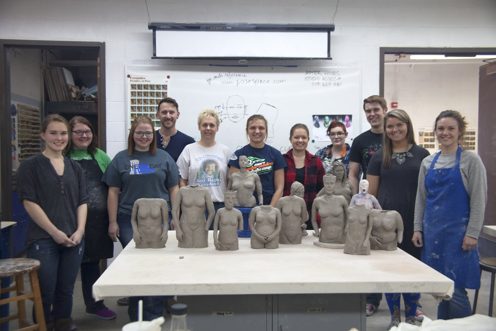 Mallory Wetherell of the University of Nebraska, Kearney brought me in to give a workshop for her ceramics students. We had a great time and the students did a really fantastic job.