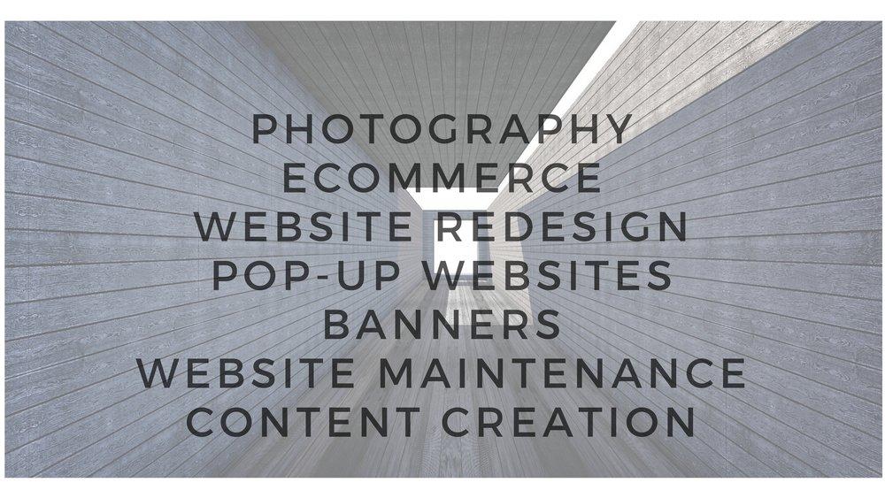 PHOTOGRAPHYECOMMERCE WEBSITE REDESIGNPOP-UP WEBSITESBANNERS WEBSITE MAINTENANCECONTENT CREATION.jpg