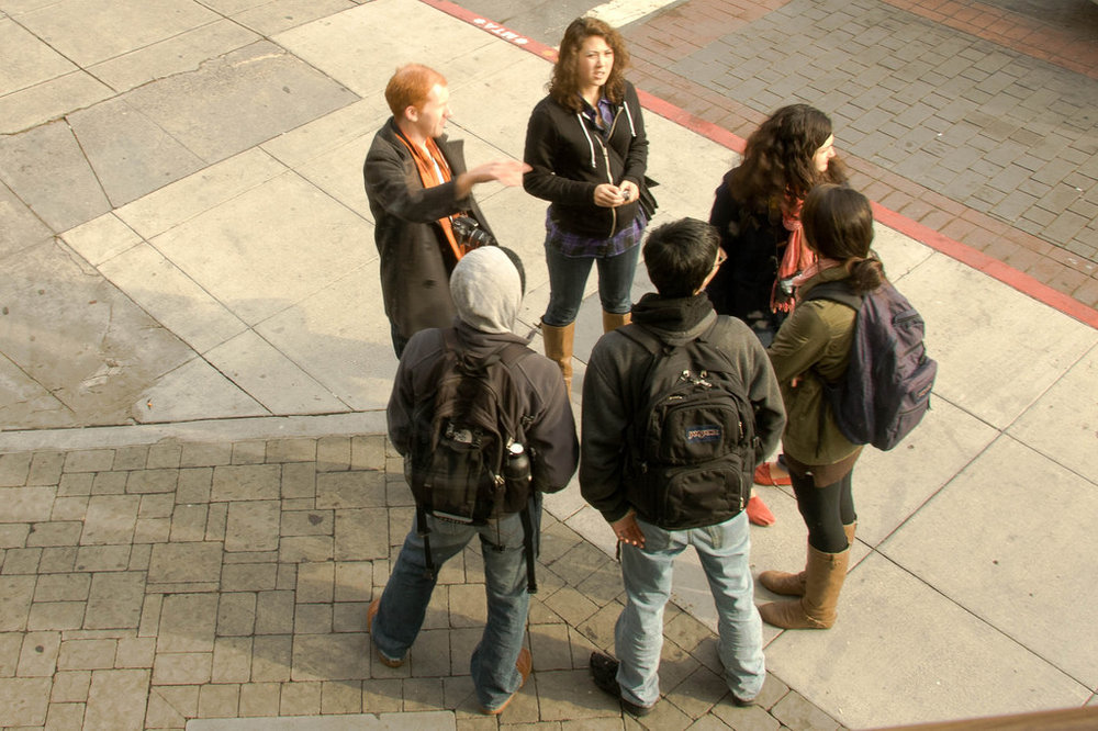 Students Discussing Historic Documentation in San Francisco