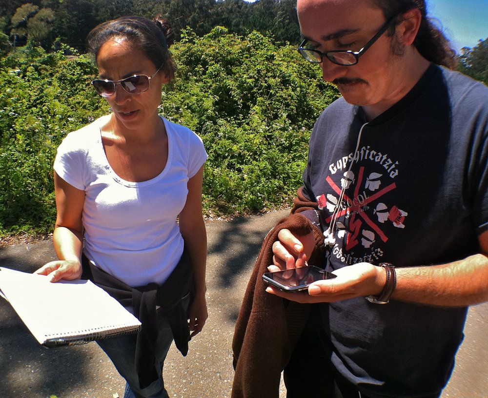 Students learn how to use GPS