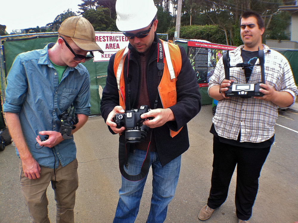 Michael Ashley and Connor Rowe, ready to use the Gigapan to document Presidio State Park in San Francisco