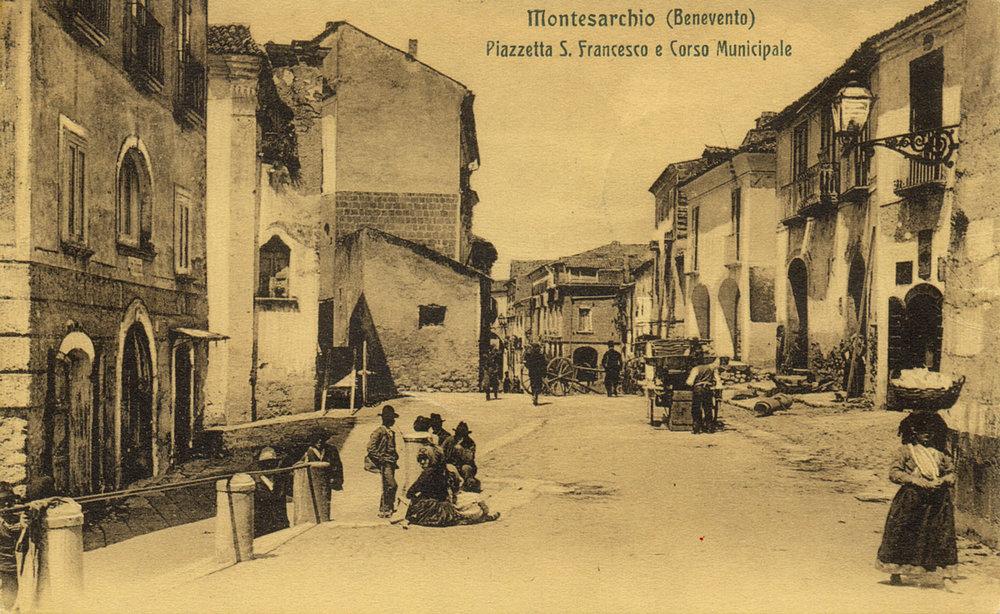 ca. 1920 postcard of Montesarchio. From the Archivio Storico of the Istituto E. Fermi