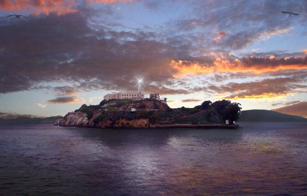 Image:  https://en.wikipedia.org/wiki/File:Alcatraz_Island_at_Sunset.jpg