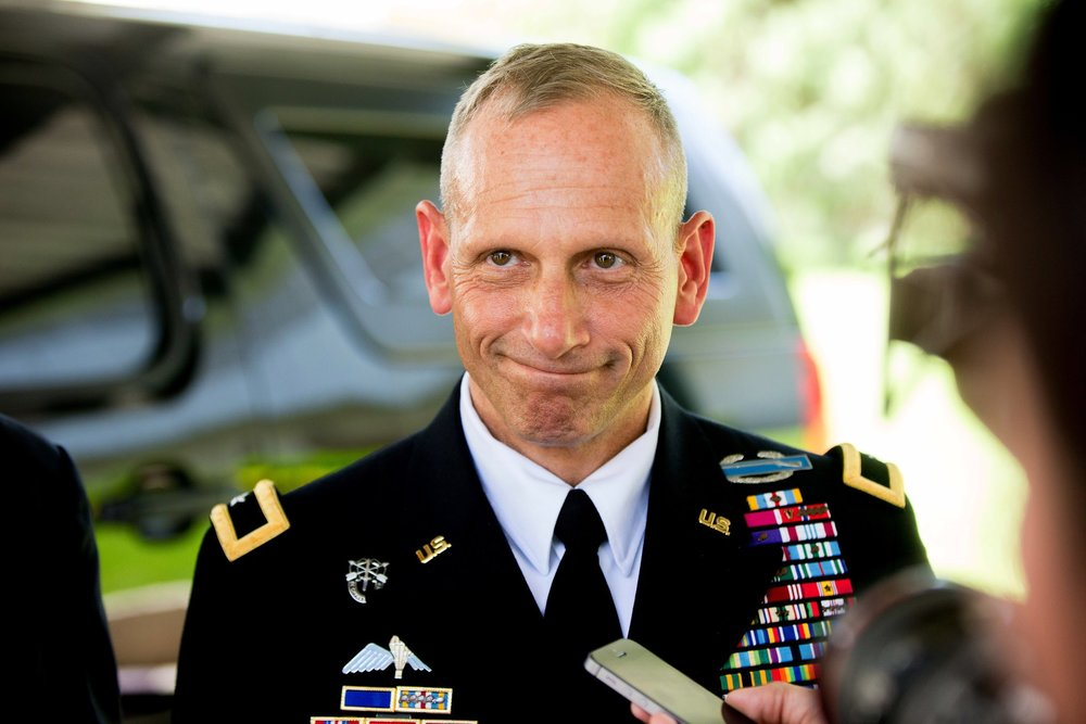 Brig. Gen. Donald C. Bolduc    During his 32 year career, Brig. Gen. Bolduc spent more than 80 months deployed in support of military operations around the world. Throughout his distinguished career, Bolduc commanded at multiple levels, including Combined Forces Special Operations Component Command, Afghanistan; Combined Joint Special Operation Task Force – Afghanistan; 1st Battalion, 3rd Special Forces Group, Afghanistan; C Company, 2nd Battalion, 5th Special Forces Group (Airborne); and HHC, 5th Special Forces Group (Airborne). Bolduc is one of the few military officers, and the only active duty general officer on record, to openly discuss his own struggles with post-traumatic stress and traumatic brain injury.   {photo credit: Andrew Harnik/AP}   READ MORE:   A General's New Mission: Leading a Charge Against PTSD