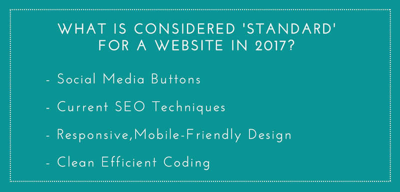 What is standard for a website in 2017?
