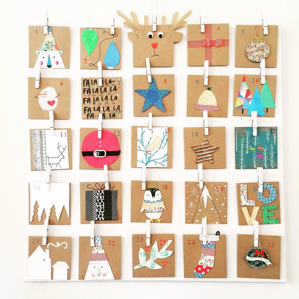 Art Advent Calendar : Diy advent calendar — art camp