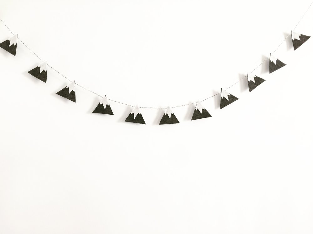 DIY Snowy Mountain Garland 2