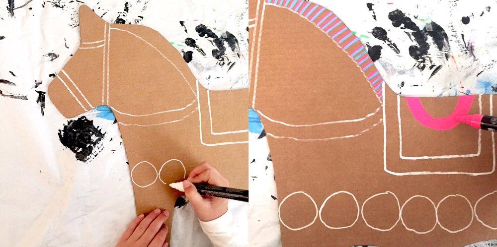 DIY Cardboard Dala Horse 5