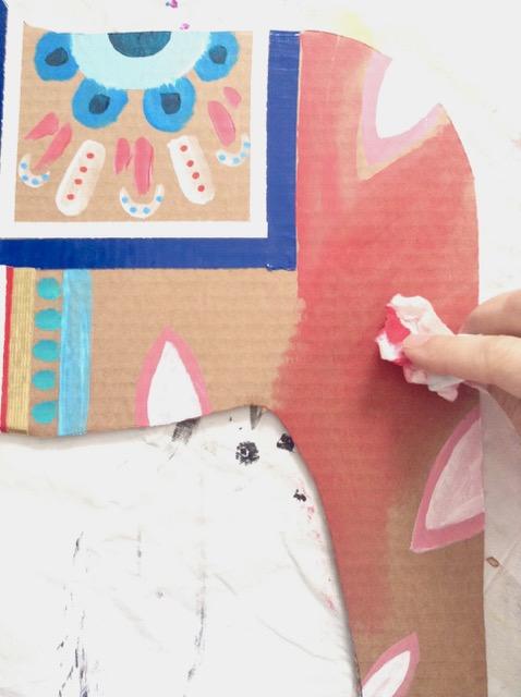 DIY Cardboard Dala Horse 10
