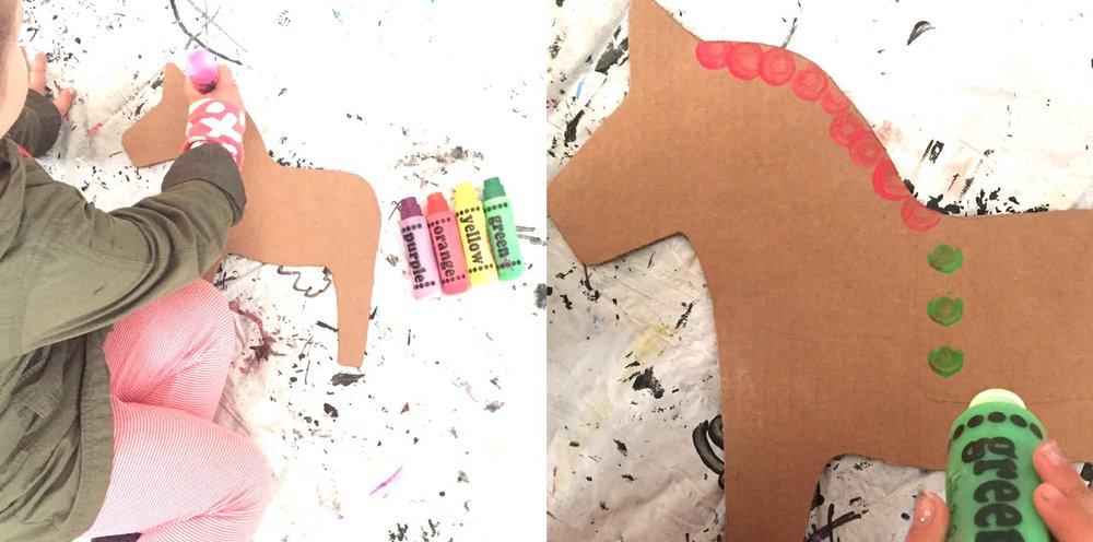 DIY Cardboard Dala Horse 2