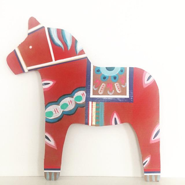 DIY Cardboard Dala Horse 1