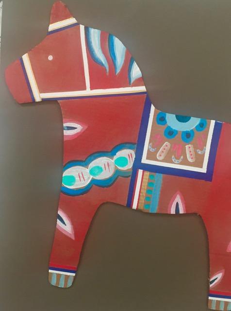 DIY Cardboard Dala Horse 11