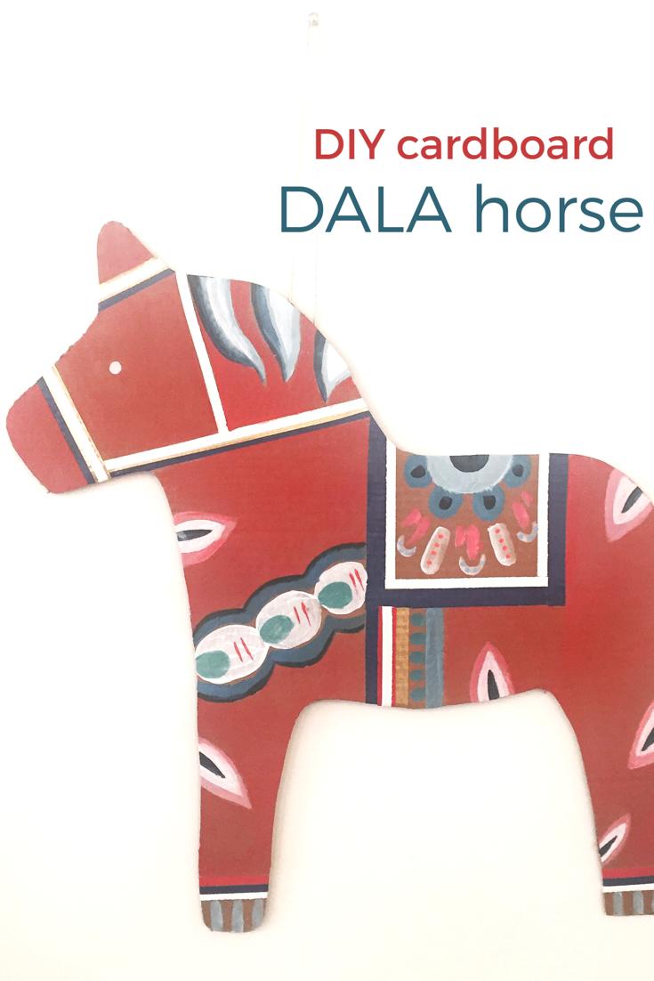 DIY Cardboard Dala Horse 13
