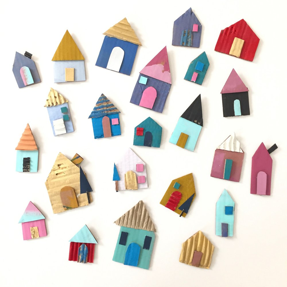 Cardboard House Ornament - 4