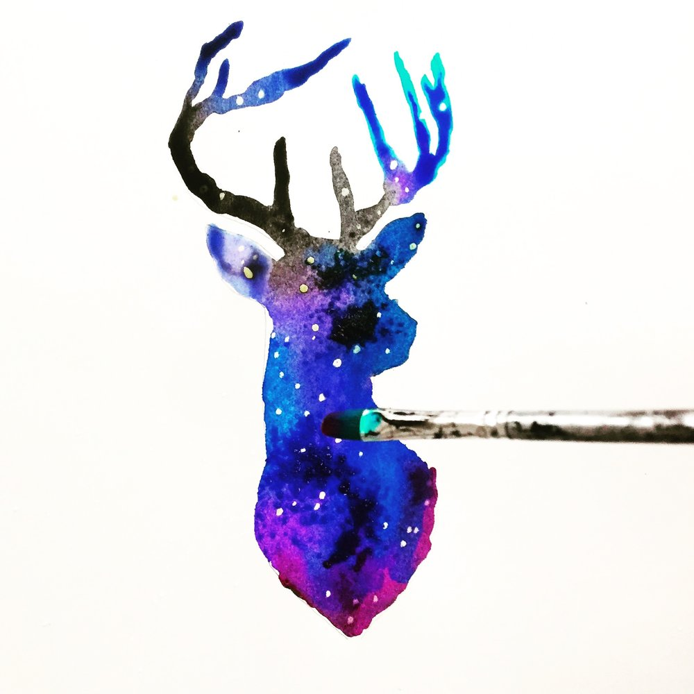 DIY Galaxy Reindeer 9