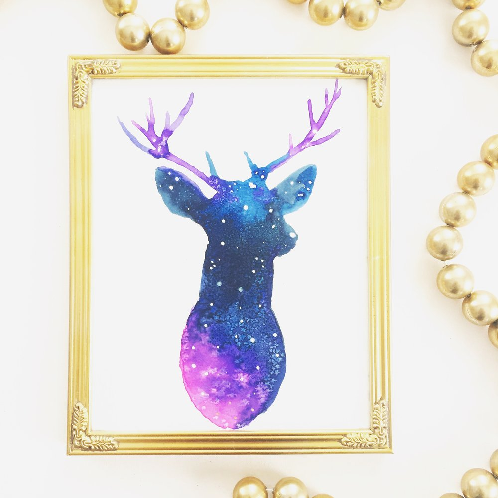 DIY Galaxy Reindeer 10