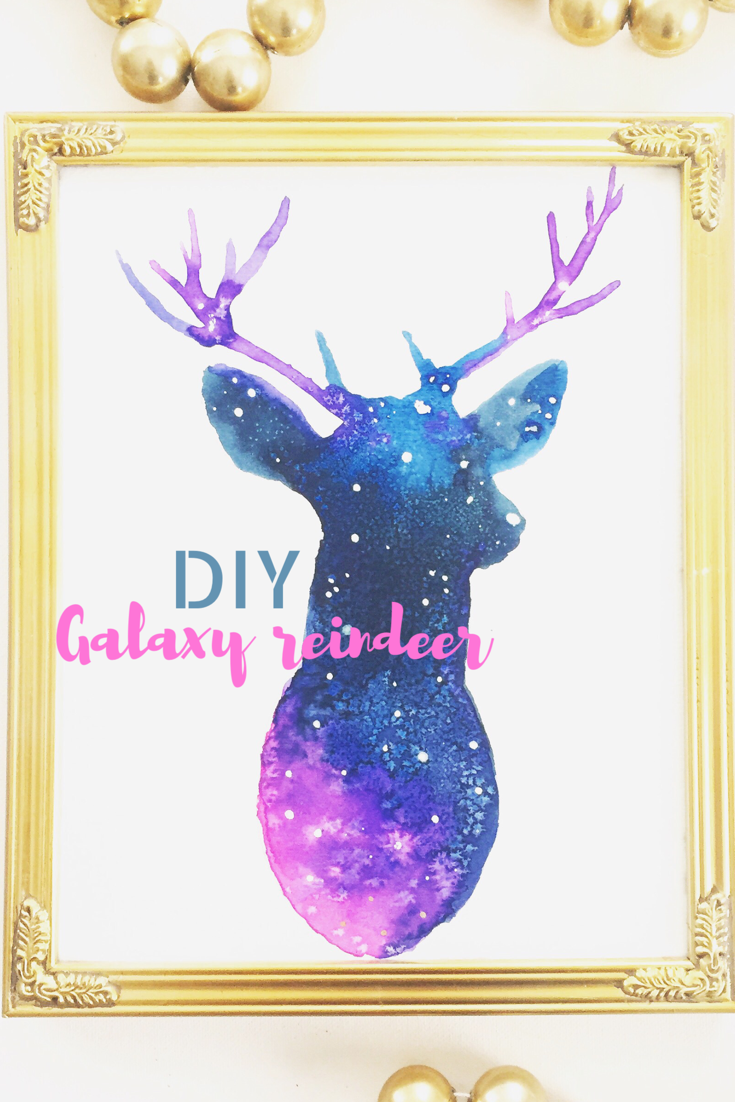 DIY Galaxy Reindeer 11