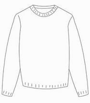 0c7fde2389ec Find a sweater template that you like and print it to scale.