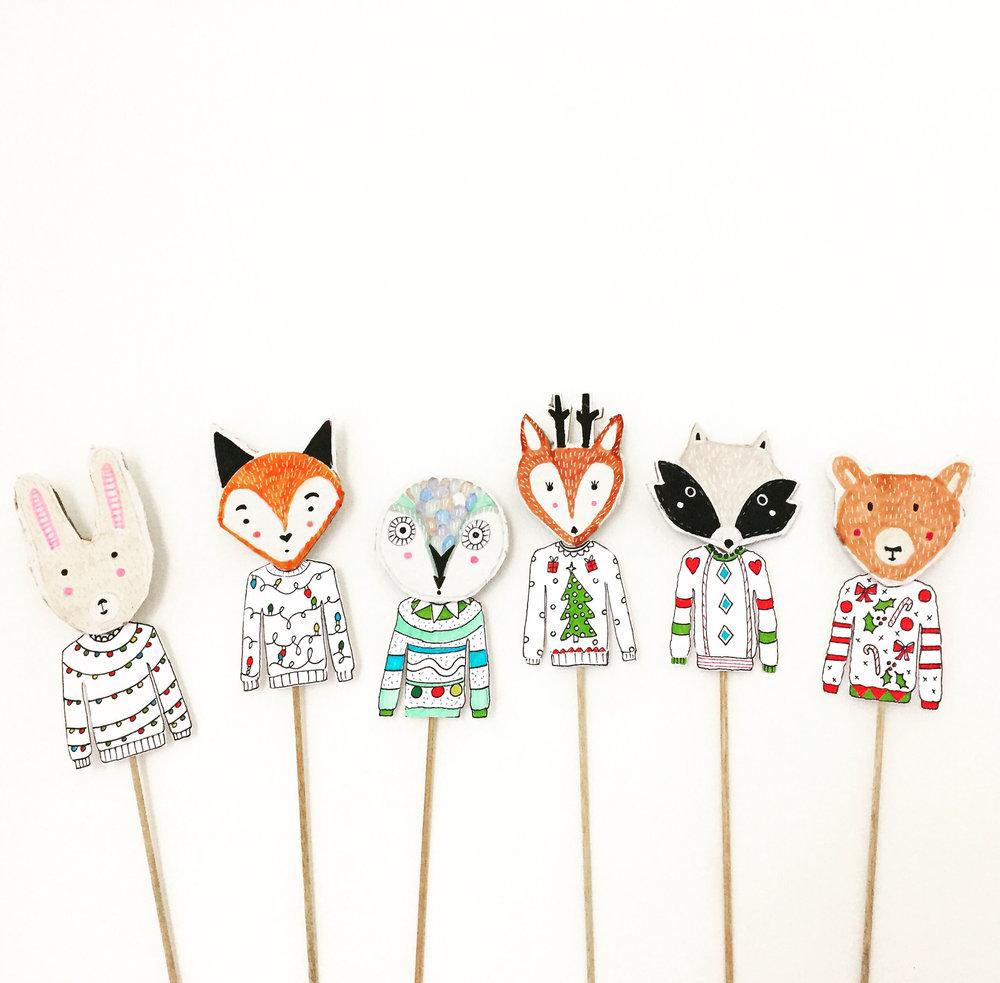 DIY Woodland Animal Puppets 12