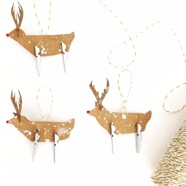 Clothespin Rudolph Ornament 11