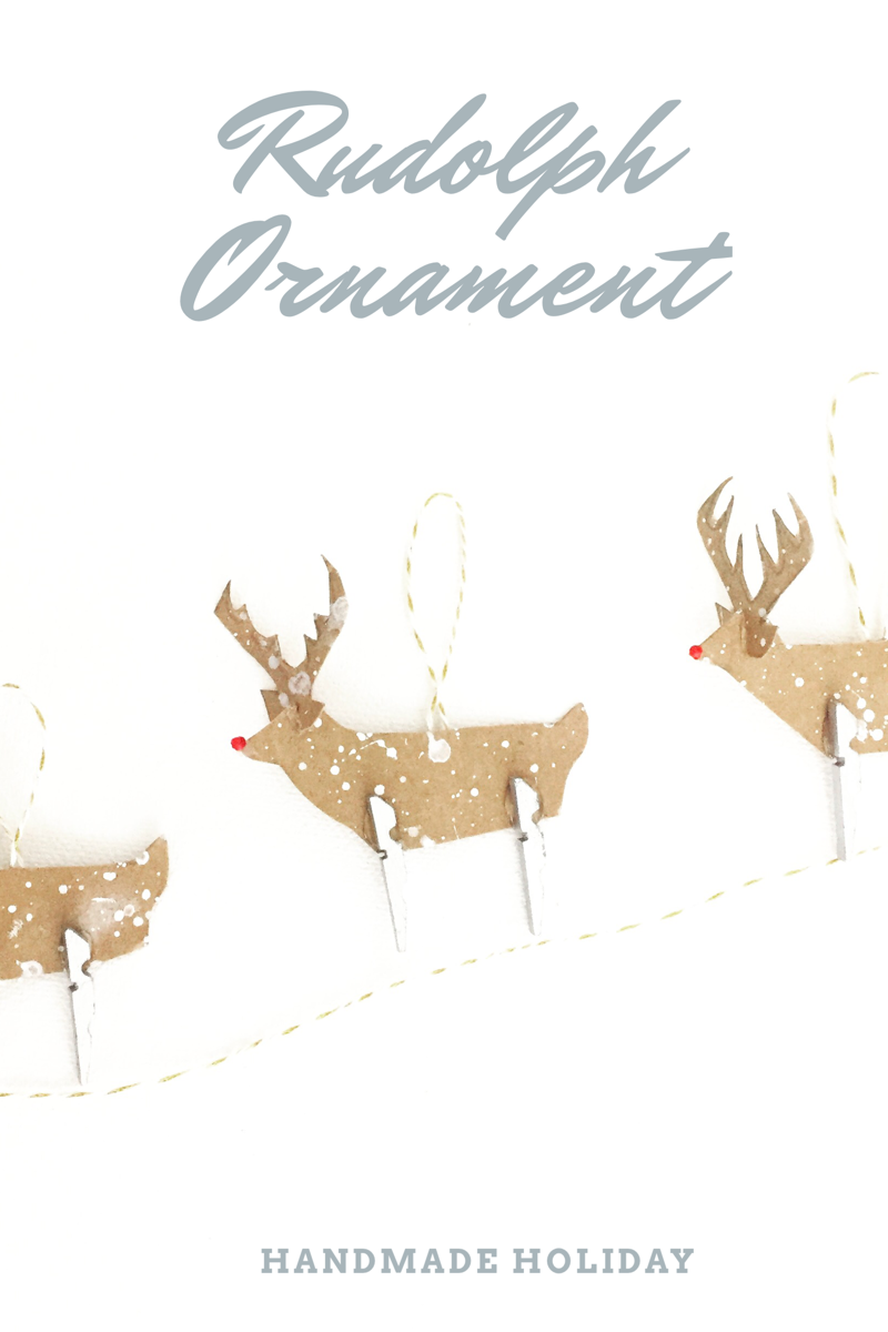 Clothespin Rudolph Ornament 13
