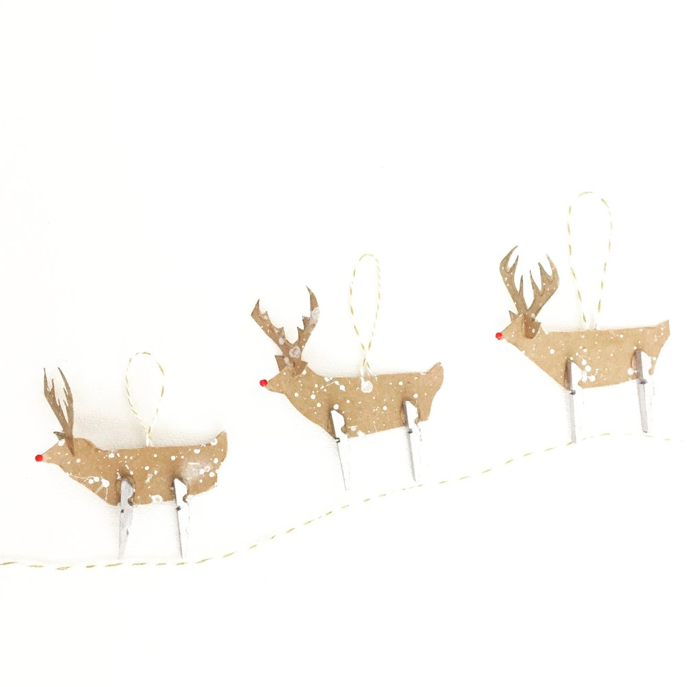 Clothespin Rudolph Ornament 1