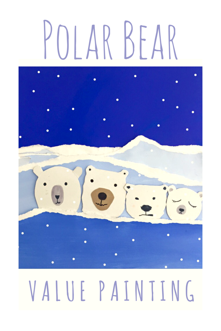 Polar Bear Value Painting 11
