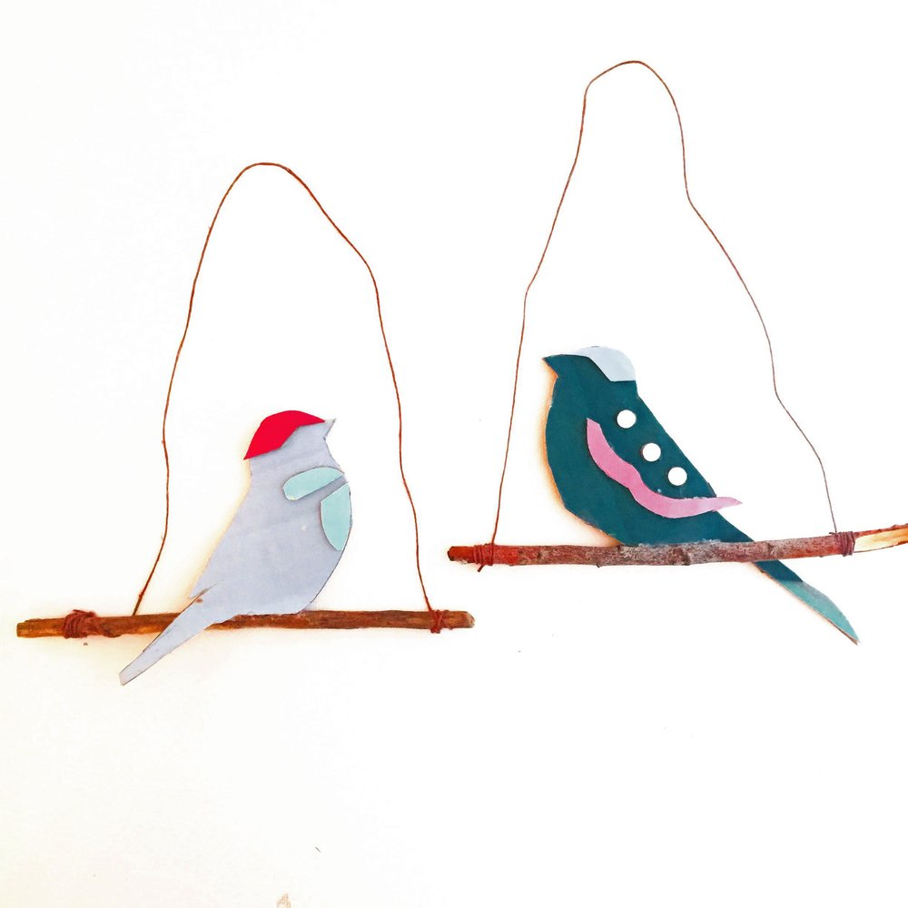 Cardboard Cars + Birds on Branches 7