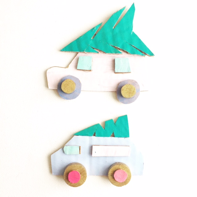 Cardboard Cars + Birds on Branches 5