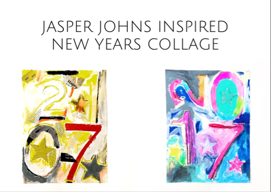 Jasper Johns Inspired New Year's Collage 13