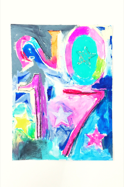Jasper Johns Inspired New Year's Collage 15