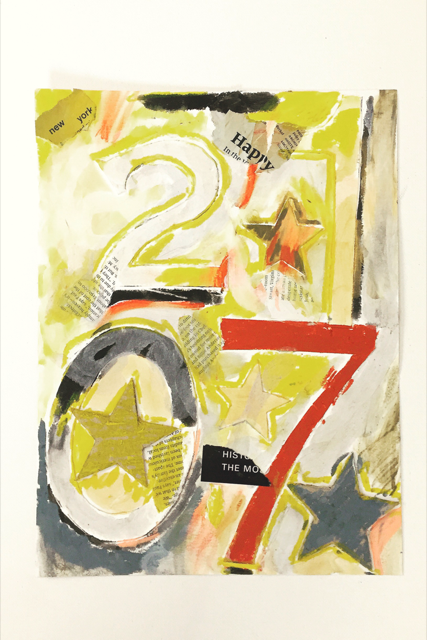 Jasper Johns Inspired New Year's Collage 16