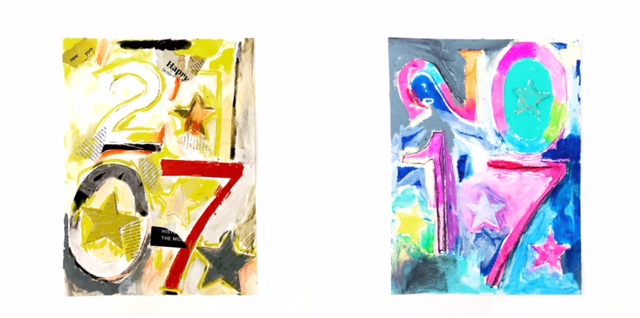 Jasper Johns Inspired New Year's Collage 1