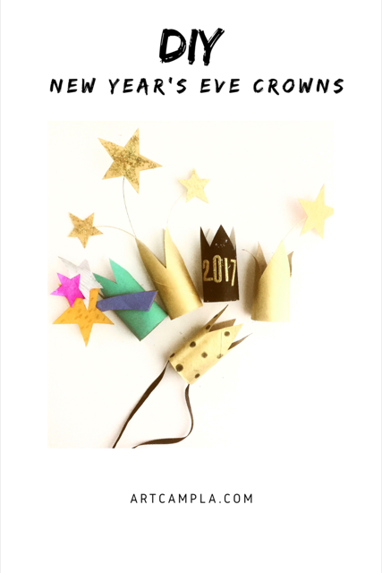 DIY New Year's Eve Crowns 8