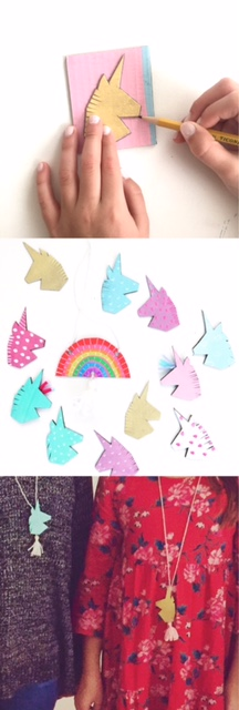 DIY Unicorn Necklace 5