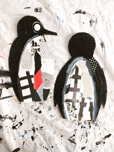 DIY Collage Penguin 6