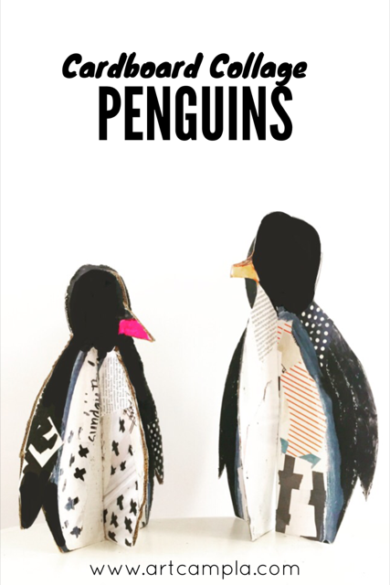 DIY Collage Penguin 9