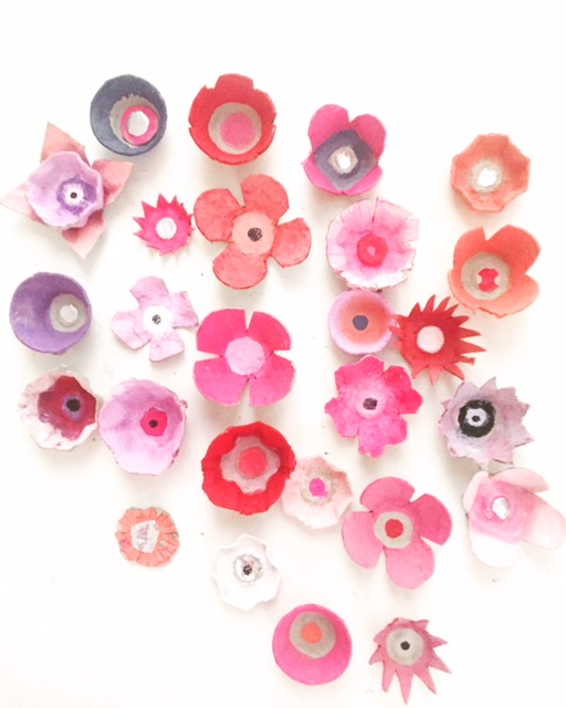 Egg Carton Flower Wreath 7