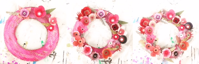 Egg Carton Flower Wreath 12