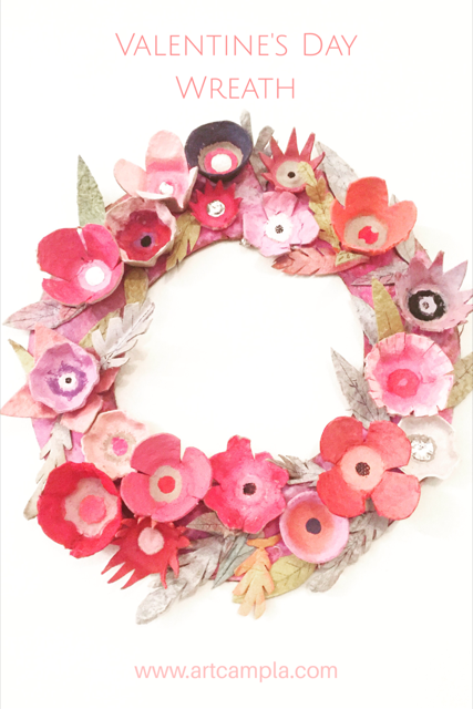 Egg Carton Flower Wreath 15